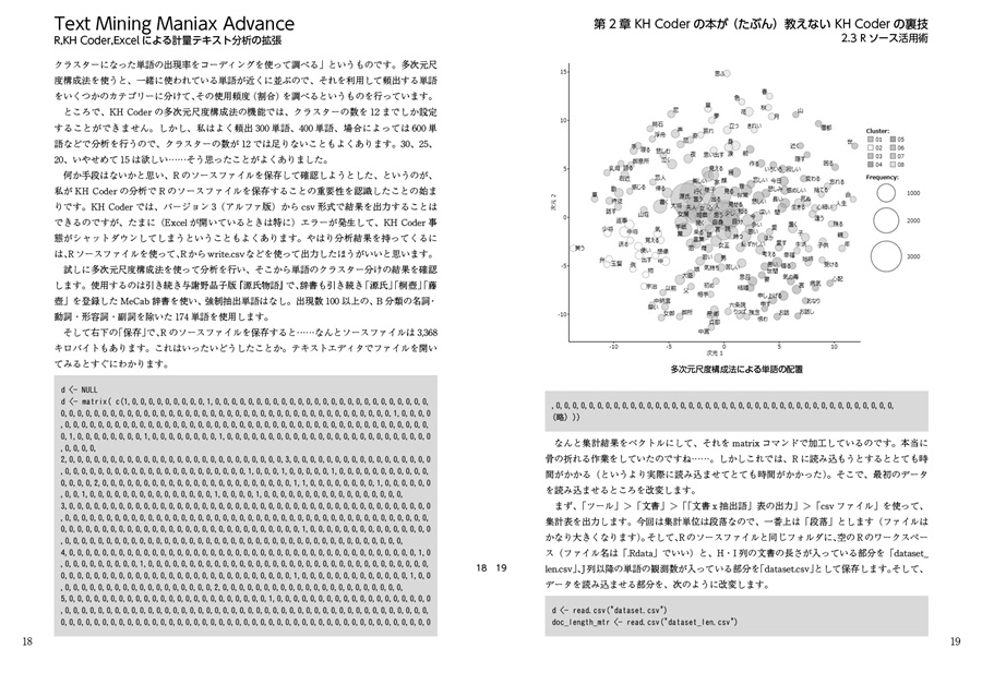 Text Mining Maniax Advance――R,KH Coder,Excelによる計量テキスト分析の拡張