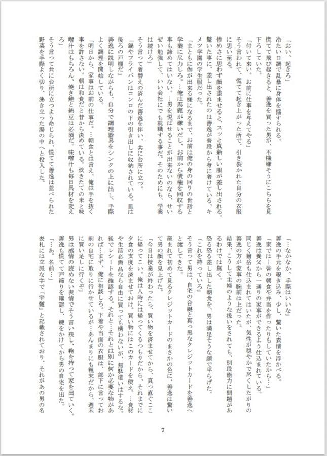 善 小説 宇