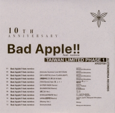 10th Anniversary Bad Apple!! feat.nomico TAIWAN LIMITED PAHSE1