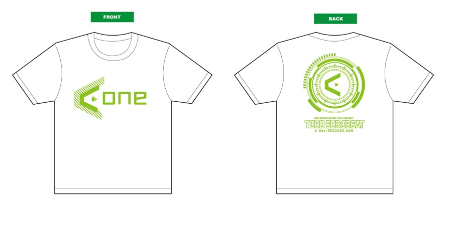 A-One 2016Tシャツ(白緑) Mサイズ