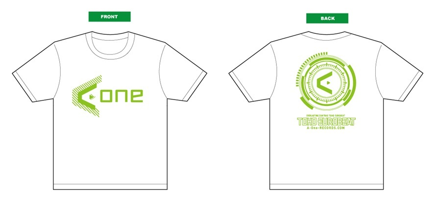 A-One 2016Tシャツ(白緑) Lサイズ