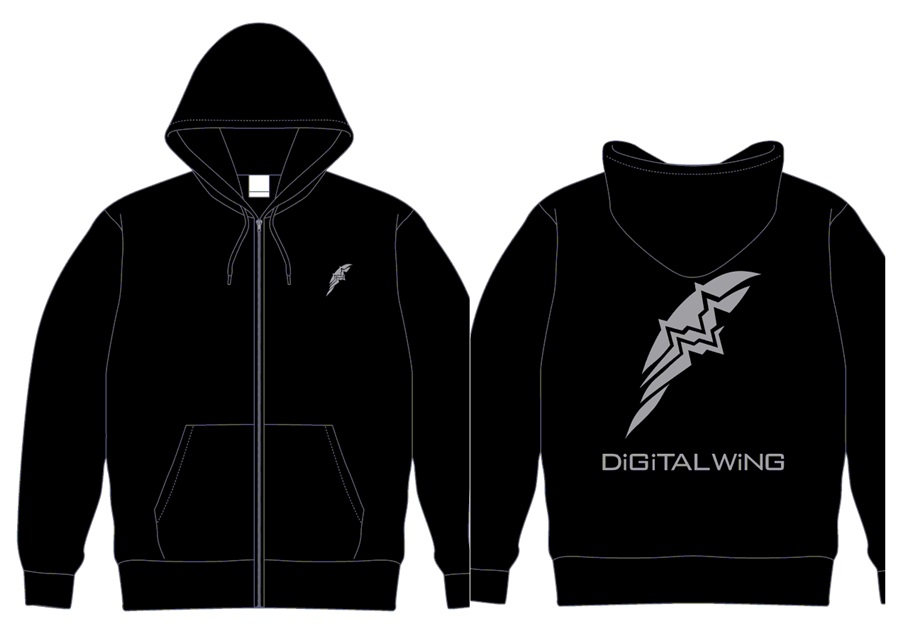 DiGiTAL WiNG OFFiCiAL パーカー 黒 XL