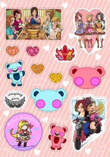Fuji Rina kawaii stickers