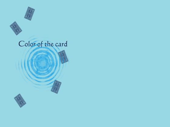 Color of the card