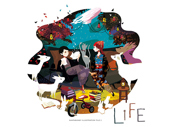 「LIFE」SANTABUNNY ILLUSTRATION FILE ll
