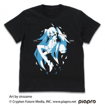 初音ミク Tシャツ sirozame Ver./BLACK-XL