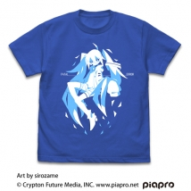 初音ミク Tシャツ sirozame Ver./ROYAL BLUE-XL