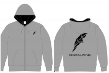 DiGiTAL WiNG OFFiCiAL パーカー グレー M
